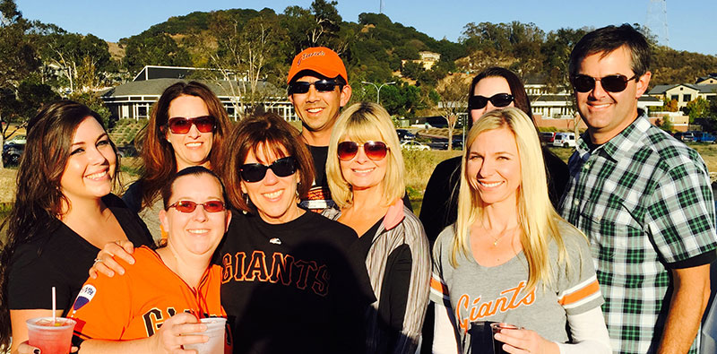 Petaluma Orthodontics at the Giants game