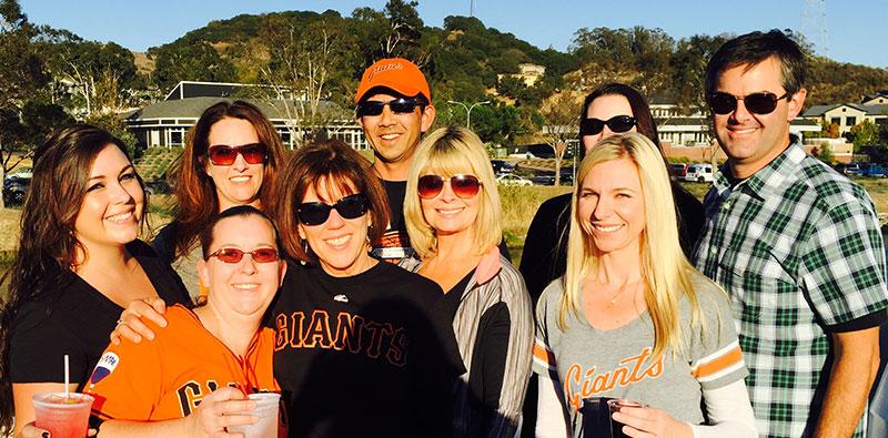 Petaluma Orthodontics at the Giants game