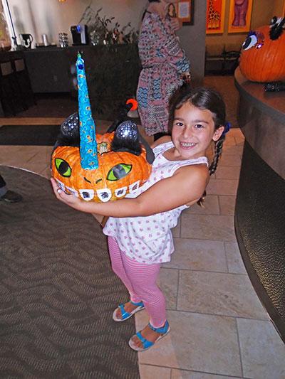 Pumpkin winner at Petaluma Orthodontics